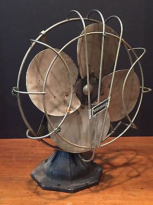 Antique Vintage Fitzgerald Electric Fan with Metal Blades (Parts/Repair)