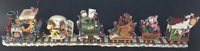 RARE Garfield Christmas Express Train Danbury Mint in Box Complete Set