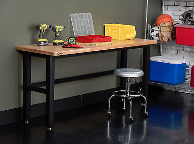 "TRINITY | TLS-7203 | 72"" x 24"" Wood Top Work Table"