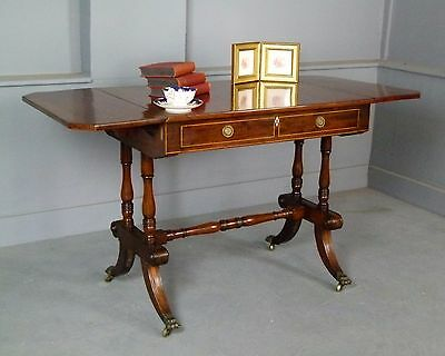 Elegant Regency Mahogany Sofa Table / Dressing Table