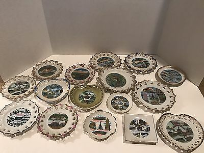"Vintage 6"" Souvenir Collectible Porcelain Display Plate Lot Of 16"