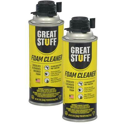 Dow Great Stuff PRO Foam Gun Applicator Cleaner, 12 oz Can, Pack of 2 Cans