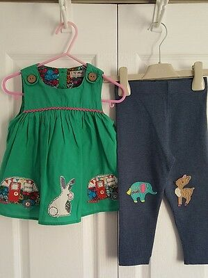 Next baby girls summer outfit/camper van top & animal leggings, 18-24 months