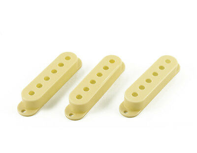 NEW Single Coil Pickup Cover Set Fender Stratocaster Strat PARCHMENT (set 3)