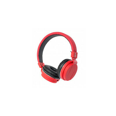 Bitmore Classic Over-Ear Headphone with Microphone and Detachable Cable - Red