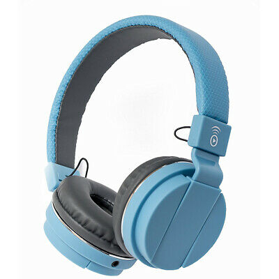 Bitmore Classic Over-Ear Headphone with Microphone and Detachable Cable - Blue