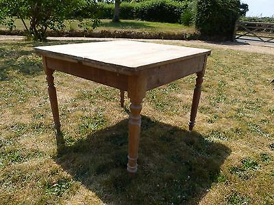 Reclaimed rustic Victorian Kitchen Table in pine