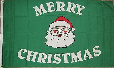 New 3' by 5'  Merry Christmas with Santa Flag. Free Shipping inside Canada!