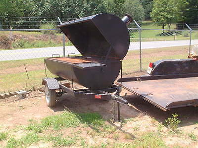9 Ft. Combination Rotisserie BBQ Pit smoker Charcoal grill concession trailer