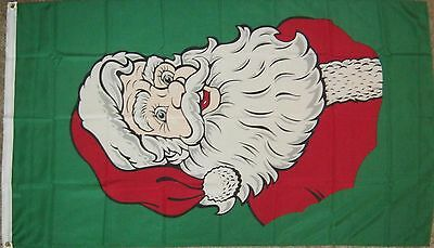 New 3' by 5' Santa Claus Flag. Free Ship in Canada!