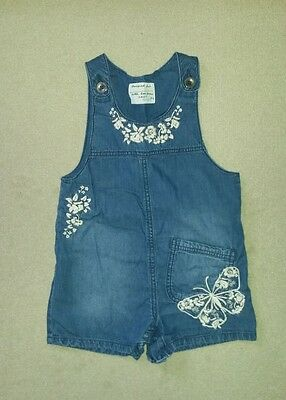 Next baby girls summer outfit/denim butterfly playsuit 18-24 months