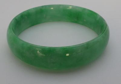"""SUPERB! 100% AUTHENTIC Antique Chinese Jade Bangle Excellent Colour 3"""" CoolTouch"""