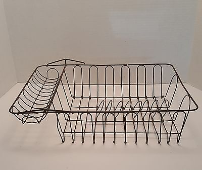 Primitive Antique Metal Wire Dish Drainer Rack early 1900's?