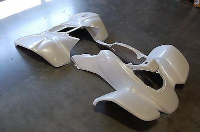 Honda Trx 400Ex 99 - 04 White Carbon Fiber Plastic Front And Rear Fender Set