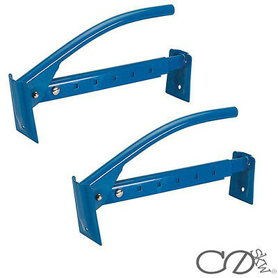 """2 x Silverline 16""""/40CM Adjustable Brick Tongs Clamp Carrier Lifter 40 - 67cm"""
