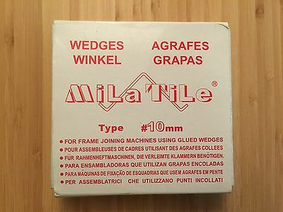 Picture Framing Mila Tile V-Nails - 10MM - Each Box Has 22 Rows of Staples