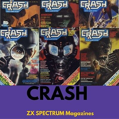 Complete Collection CRASH MAGAZINE! 98 ISSUES!  ZX Spectrum, Retro Gaming on DVD