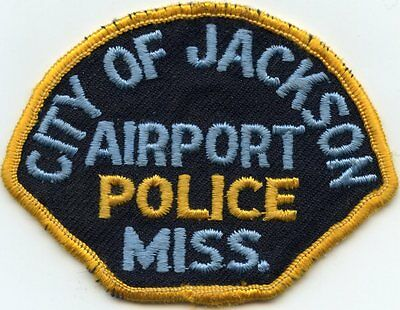 old vintage JACKSON MISSISSIPPI MS AIRPORT POLICE PATCH