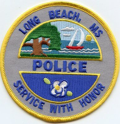 LONG BEACH MISSISSIPPI MS Service With Honor POLICE PATCH