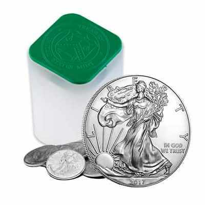 2017 1 oz Silver American Eagle $1 Coins (Lot, Roll, Tube of 20)