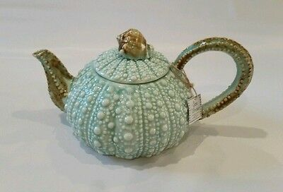 New Blue Sky Ceramics Clayworks SEA URCHIN Tea Pot Turquoise Gift Housewarming