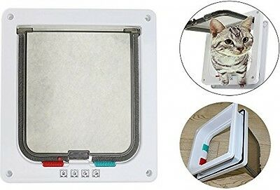 Annengjin Pet Flap Lockable Cat Door White Large L
