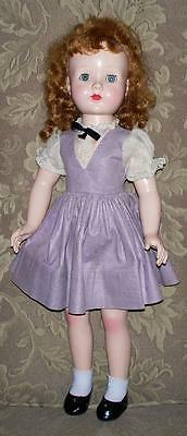 "Vintage 1950's 19"" Honey Walker Original Dress and Panties Saran Wig Nice Doll"