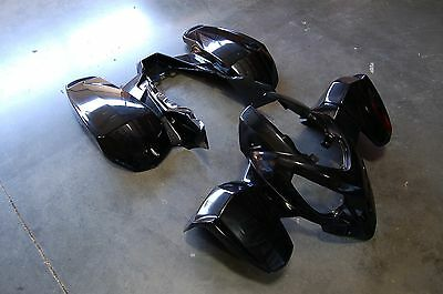 Polaris Predator 500 03 - 07 Black Plastic Front And Rear Fender Set
