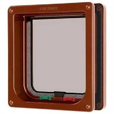 Cat Mate 4 Way Locking Cat Flap With Door Liner To 50mm - Brown
