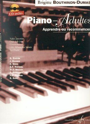 Piano-Adultes : Apprendre ou recommencer le piano - Piano - Partition + CD
