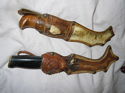 2 Pcs Vintage Knifes Sami Finlands  Around 20 Cm Long Vintage 20 Cm