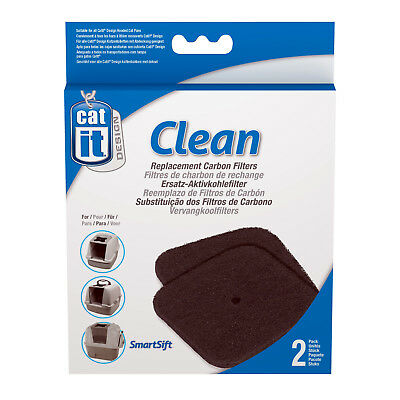 Catit Clean Replacement Carbon Filters For Deluxe Hooded Cat Pans Smartsift