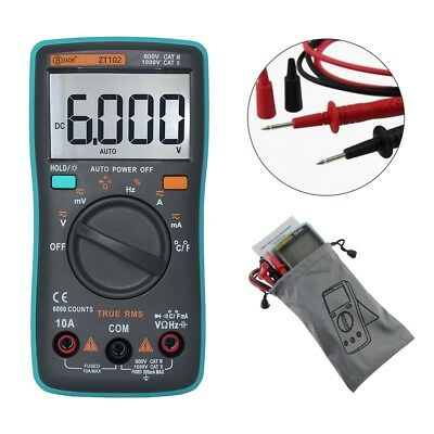 ZT102 Temperature 6000 counts Display Digital Multimeter Backlight Auto -Ranging