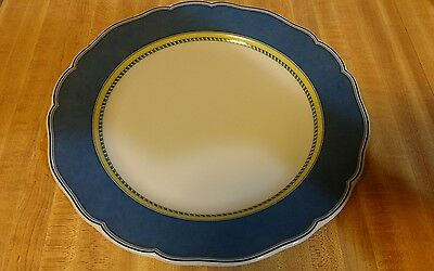 "Wedgwood Tuscany Collection Classico 10 3/4"" Dinner Plates Blue/Yellow NEW!"