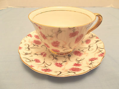 Napco National Potteries, Cleveland Ohio, Cup & Saucer, Carnation Pattern #321