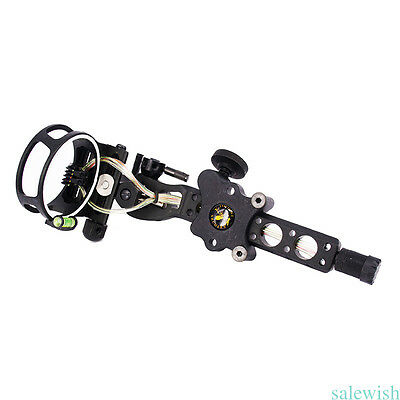 "Micro adjust 5 pin compound bow sight w/ Light 0.019"" Exquisite Tackle Acc"