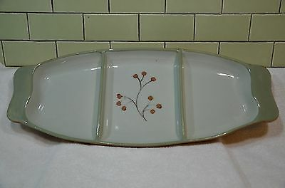 Vintage MCM Pasadena California Pottery Unique Berry Divided Serving Dish Tray