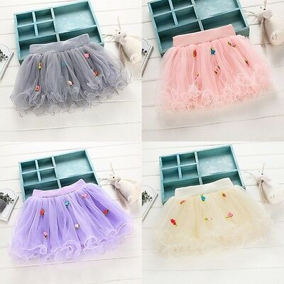 Kid Baby Kids Girls Tutu Skirt Princess Dressup Party Costume Ballet Dancewear