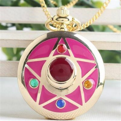 Anime Sailor Moon Life With Sailor Moon Crystal Star Pocket Watch Necklace Cos