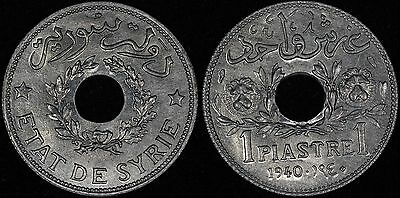 SYRIA Syrie 1 piastre 1940 a, Zinc, KM# 71a UNC Gem Uncirculated