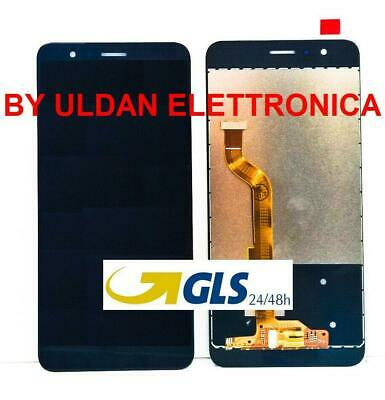 LCD DISPLAY Per HUAWEI HONOR 8 FRD-L09 FRD-L19 TOUCH SCREEN VETRO SCHERMO NERO