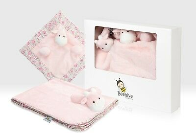 New Baby Gift Box Set Pink Newborn Girl Baby Shower Gift, 3 Piece Gift Hamper