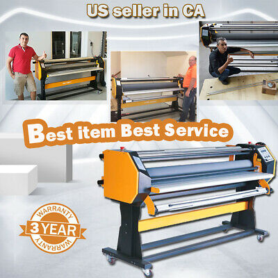 "USA!110V 67"" Stand Frame Full-auto Single Side Wide Format Hot / Cold Laminator"