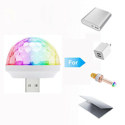 Mini USB colorful  Light USB Sphere Ball Lightning And Neon color-changed Light