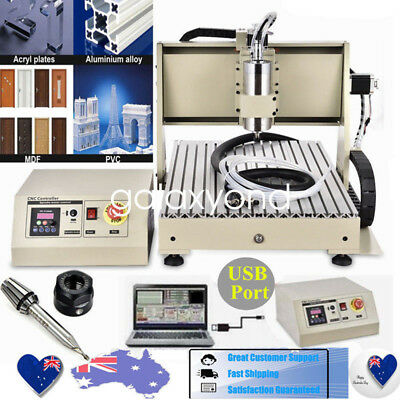 USB!3 Axis CNC Router 6040 Engraver Cutter Milling Drilling Machine 1500W Mach3