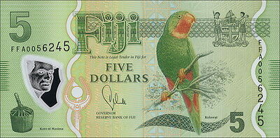 Fiji Inseln / Fiji Islands 5 Dollars (2012) Pick 115 (1)