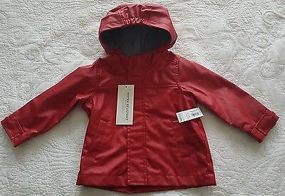 Old Navy, Unisex Red Weatherproof Lined Coat, Size 18-24 months