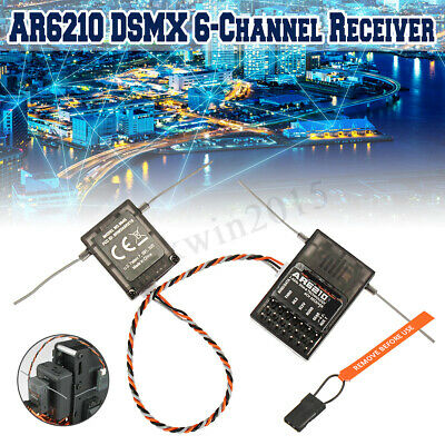 6CH AR6210 DSMX Receiver RX Support DSM2 + Satellite For Spektrum Transmitter