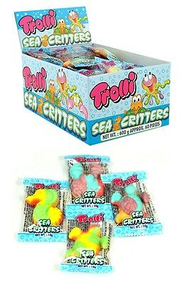 Bulk Lollies 60 x Trolli Sea Critters 10g Candy Gummy Buffet Sweets Favors Lolly