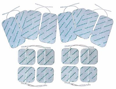 TENS/EMS Pads Variety 8 Square 5x5cm, 8 Large 5x10cm Electrodes Healthcare World